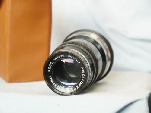 Ross London 3.5 inch (89mm)F3.5 Definex Coated lens for Contax Range Finder-RARE